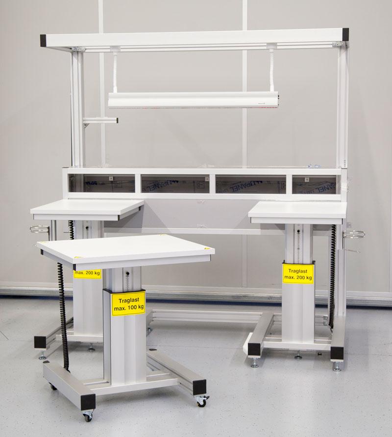 Ergonomische Arbeitsplatzsysteme Montagearbeitstische
