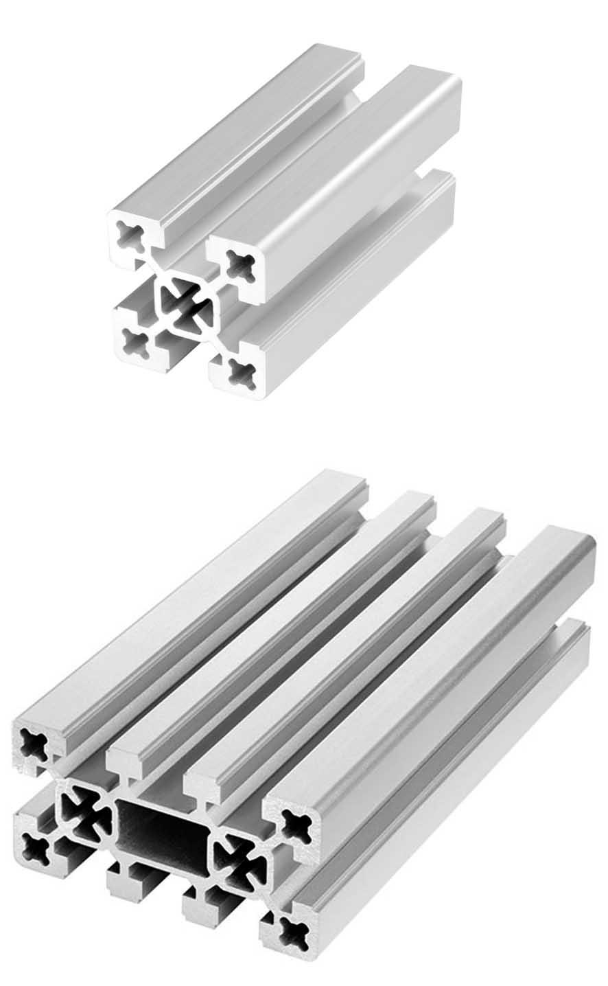 aluminium profiles profile systems construction profiles rk rose krieger. Black Bedroom Furniture Sets. Home Design Ideas